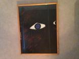 """Série : // Line work: """"Yeux"""" - Acrylique sur papier // Acrylic on paper - 1995"""