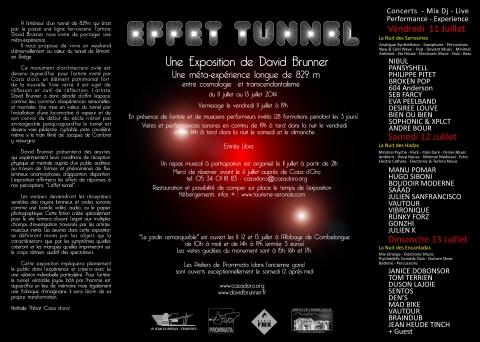 """Flyer - """"Effet Tunnel"""" 2014"""