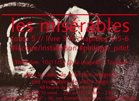 "Flyer performance ""Les Misérables"" - 2013"