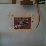 """Dessin pour papier peint // Drawing for wallpaper - Installation """"Puisqu'elle est partie, elle est partout"""" 2014"""