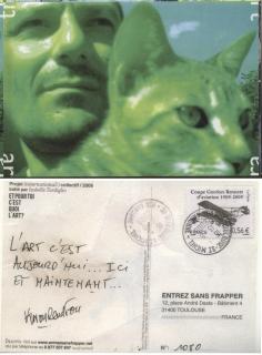 """Carte postale """"selfie"""" pour // Selfie postcard for - """"Et pour toi, c'est quoi l'art ?"""""""