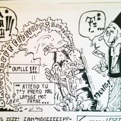 Dessin extrait d'une BD // Drawing from a comic strip - Syfilitiks Zine 1979