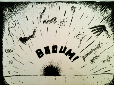 Dessin extrait d'une BD // Drawing from a comic strip - 1981