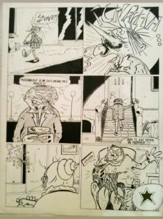 Planche d'une BD // Board cartoon - Bouduc 1983