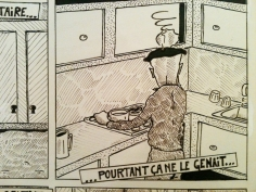 Dessin extrait d'une BD // Drawing from a comic strip - La Benne à Ordure 1984