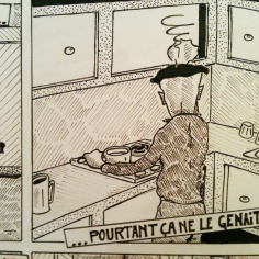 Dessin extrait d'une BD // Drawing from a comic strip - La Benne à Ordure 1984