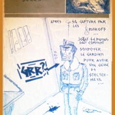 Dessin // Drawing - Jaquette de K7 // K7 cover 1985