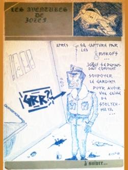 Dessin // Drawing - Jaquette de K7 // K7 cover 1985