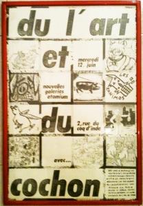 Affiche de l'exposition « du l'art et du cochon » // Notice of the exhibition « du l'art et du cochon » – NGA 1985