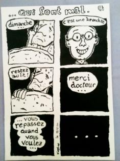 Planche de BD // Board cartoon - La planche à BD de Liège 1985