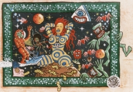 "Peinture murale, détail - Artistic mural, detail - ""Galerue"" 1992"