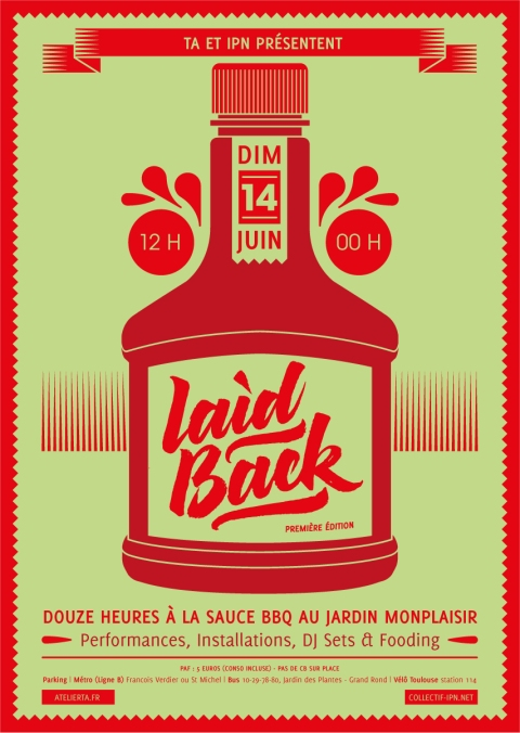 Affiche // Poster - Laid Back © Donoteat