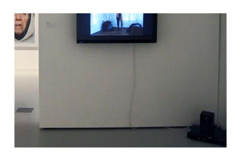 """Installation """"Réduction - Capture #1"""" de Philippe Pitet pour l'exposition """"Figures du voile"""" à La Fabrique- 2012"""