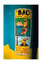 Cartouche de marquage Philippe Pitet (Kinou) avec la BAO Comix Group - Bad Painting urbain - 1988