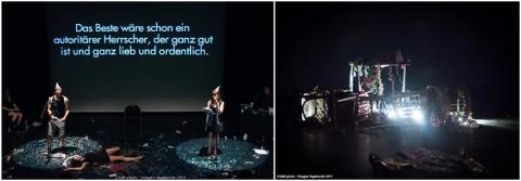 """Scénographie, vidéo et performance de Philippe Pitet pour """"Fassbinder - Work In Progress"""", enquête performative de 206 à 2018"""