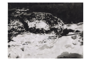 "Dessin ""Aiga - Variation 43°53'33N - 1°23'33E - Alt. 168m"" de Philippe Pitet - Série Aiga 2011"