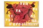 Photo de dessins au pochoir de Philippe Pitet - 1979