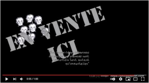 Capture d'écran du clip promotionnel pour Nos Super-héros (héroïnes) - Philippe Pitet