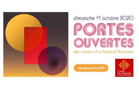 Bannière de la journées Portes Régionale Portes Ouvertes des Ateliers d'Artistes du 11 octobre 2020 avec Philippe Pitet Artiste Plasticien