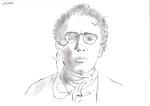 Dessin au crayon d'Emma Goldman de Philippe Pitet - Plasticien