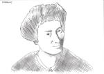 Dessin au crayon de Rosa Luxemburg de Philippe Pitet - Plasticien